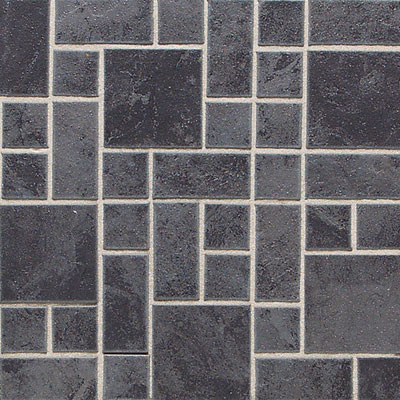 Daltile Continental Slate Mosaic Block Rndm. 12 X 24 Asian Black CS53 BLRANDMSC1P