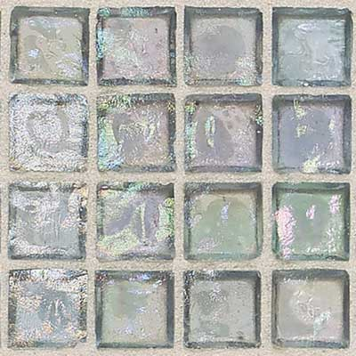 Daltile Egyptian Glass Mosaics 2 x 2 Iridescent Clear Aquamarine EG14 22PM1P