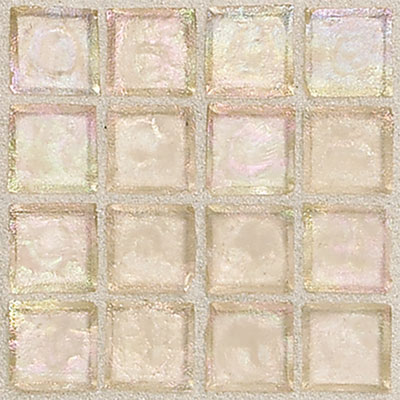 Daltile Egyptian Glass Mosaics 1 x 1 Iridescent Clear Dune EG08 11PM1P