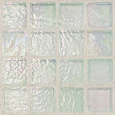 Daltile Egyptian Glass Mosaics 1 x 1 Iridescent Clear Opal EG07 11PM1P