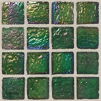 Daltile Egyptian Glass Mosaics 1 x 1 Iridescent Clear Papyrus EG12 11PM1P