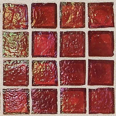 Daltile Egyptian Glass Mosaics 1 x 1 Iridescent Clear Rosetta EG13 11PM1P