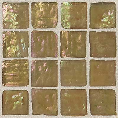 Daltile Egyptian Glass Mosaics 1 x 1 Iridescent Clear Sahara EG11 11PM1P