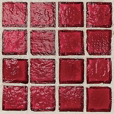 Daltile Egyptian Glass Mosaics 2 x 2 Clear Crimson EG05 22PM1P