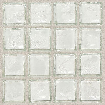 Daltile Egyptian Glass Mosaics Clear 1 x 1 Isis EG01 11PM1P