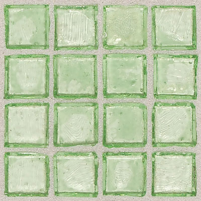 Daltile Egyptian Glass Mosaics Clear 1 x 1 Palm