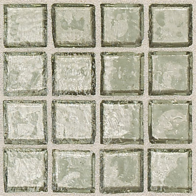 Daltile Egyptian Glass Mosaics Clear 1 x 1 Sand EG03 11PM1P