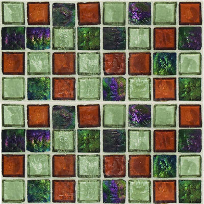 Daltile Egyptian Glass Mosaics 1 x 1 Blends Amber Medley EG36 11PM1P