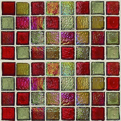 Daltile Egyptian Glass Mosaics 1 x 1 Blends Garnet Gallery EG33 11PM1P