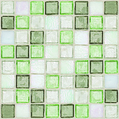 Daltile Egyptian Glass Mosaics 1 x 1 Blends Peridot Fusion EG31 11PM1P