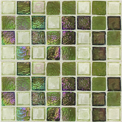 Daltile Egyptian Glass Mosaics 1 x 1 Blends Topaz Melange EG35 11PM1P