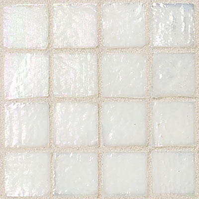 Daltile Egyptian Glass Mosaics 1 x 1 Iridescent Solid Cotton EG15 11PM1P