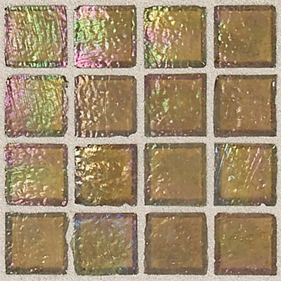 Daltile Egyptian Glass Mosaics 1 x 1 Iridescent Solid Pyramid EG20 11PM1P