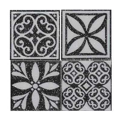 Daltile Fashion Accents Dots FA06 Black FA06 22DOTB1P