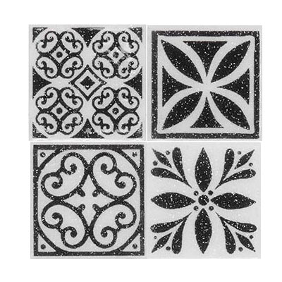 Daltile Fashion Accents Dots F06 White FA06 22DOTA1P