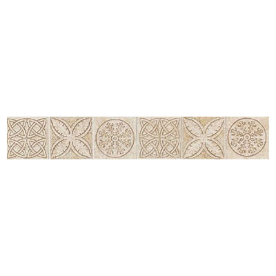 Daltile Fashion Accents Dynasty Liners/Dots FA23 Keltic Knots Sand FA23212DECO1P