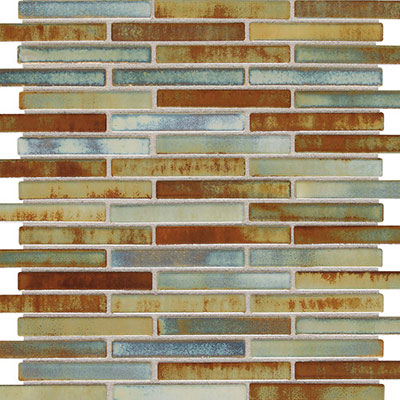 Daltile Fashion Accents Illumini 5/8 x 3 Mosaic F015 Lake F015583MS1P