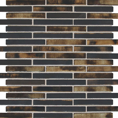 Daltile Fashion Accents Illumini 5/8 x 3 Mosaic Umber F016 583MS1P