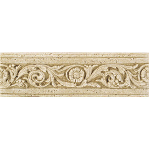 Daltile Fashion Accents Romanesque Flora Travertine FA93413LIST1P