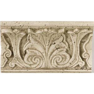 Daltile Fashion Accents Romanesque Acanthus Shelf Rail Travertine FA9948SR1P