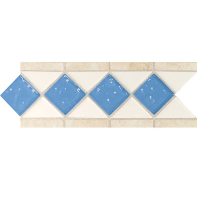 Daltile Fashion Accents Semi-Gloss w/Ocean Glass & Tumbled Stone Arctic White Lagoon FA5117411LST1P2