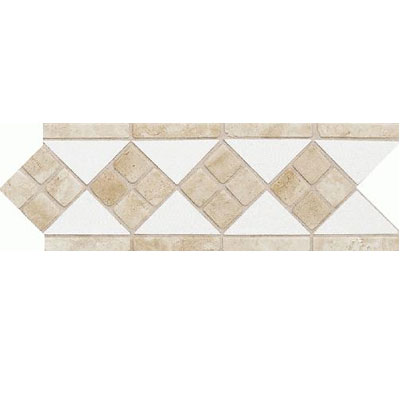 Daltile Fashion Accents Semi-Gloss w/Ocean Glass & Tumbled Stone Artic White Stone FA51412LIST1P2