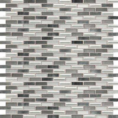 Daltile Fashion Accents Shimmer Brix FA64 Nickle Blend FA641212BMS1P