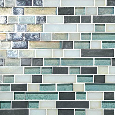 Daltile Glass Horizons Random Linear Mosaic Blends Atlantic Blend Random Linear Mosaic GH11 34RANDPM1P