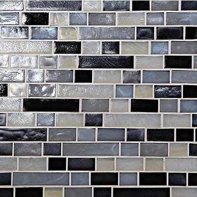 Daltile Glass Horizons Random Linear Mosaic Blends Baltic Blend Random Linear Mosaic GH16 34RANDPM1P