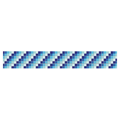 Daltile Glass Mosaic 6 Diagonal 707226
