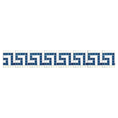 Daltile Glass Mosaic 6 Greek Key Five 707023