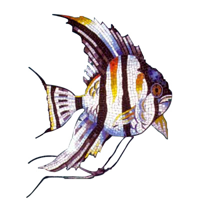 Daltile Glass Mosaic Murals Angelfish 31 x 45 707083