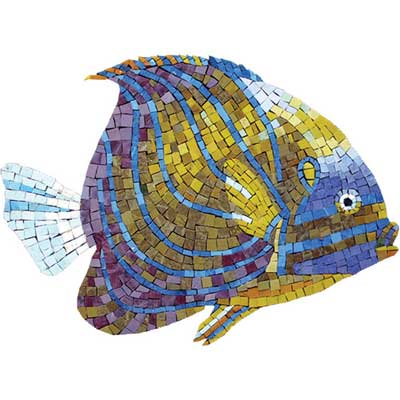 Daltile Glass Mosaic Murals Tropical Reef Fish 707085