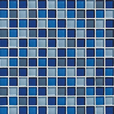 Daltile Glass Reflections Blends Mosaic 1 x 1 (Gloss) Caribbean Surf GR22 11MS1P