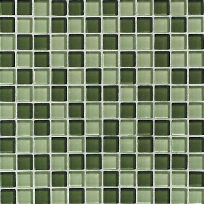 Daltile Glass Reflections Blends Mosaic 1 x 1 (Gloss) Rain Forest GR24 11MS1P