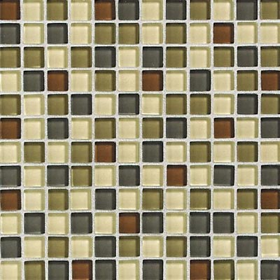 Daltile Glass Reflections Blends Mosaic 1 x 1 (Gloss) Urban Camouflage GR21 11MS1P