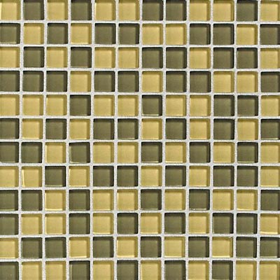 Daltile Glass Reflections Blends Mosaic 1 x 1 (Gloss) Wheat Field GR23 11MS1P