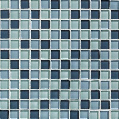 Daltile Glass Reflections Blends Mosaic 1 x 1 (Gloss) Winter Blue GR25 11MS1P