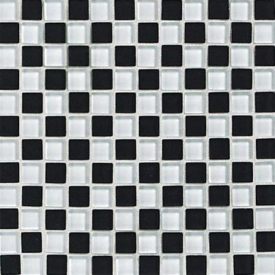 Daltile Glass Reflections Checkerboard Mosaic 1 x 1 (Gloss) Check Mate GR26 11CKBDMS1P