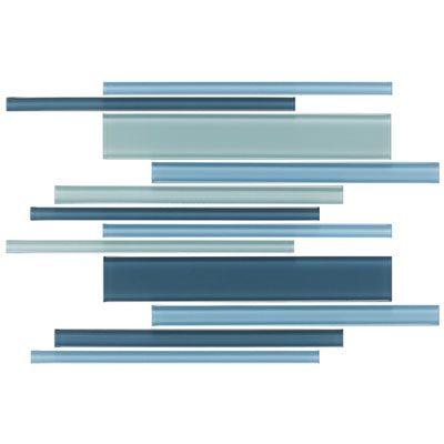 Daltile Glass Reflections Interlocking Blends 12 x 16 (Frosted) Winter Blues GR25 1218FMS1P