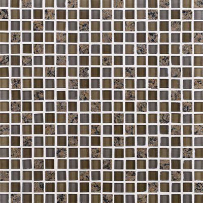 Daltile Granite Radiance Mosaic (PTS) Tropical Brown Blend GR63 5858MS1P
