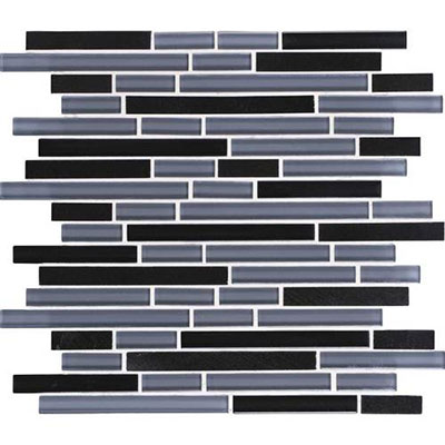 Daltile Granite Radiance Random Mosaic (PTS) Absolute Black Blend GR61 58RANDMS1P