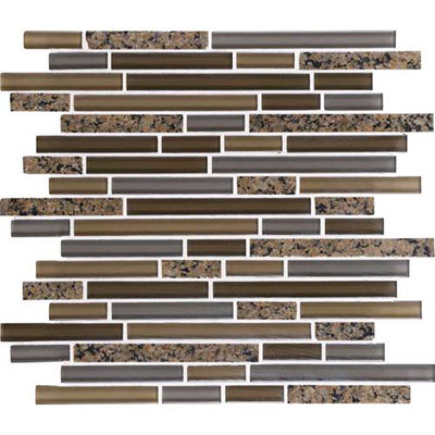 Daltile Granite Radiance Random Mosaic (PTS) Tropical Brown Blend GR63 58RANDMS1P