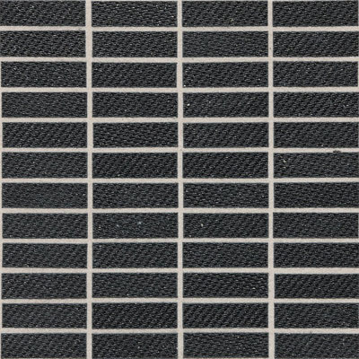 Daltile Identity Fabric Visual Mosaic Unpolished Twilight Black MY26 13MS1P2