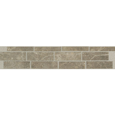 Daltile Incan Stones Border Cafe Tobacco Honed Burgos Border 2 1/2 x 12 M759 212BR1U
