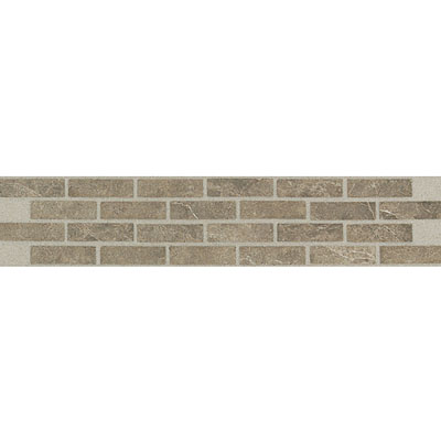 Daltile Incan Stones Border Cafe Tobacco Honed Villa Border 2 1/2 x 13 M759 213BR1U