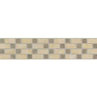 Daltile Incan Stones Border Champagne Gold / Cafe Tobacco Honed Velez Horizontal Border 3 x 12 IC88 312BR1U