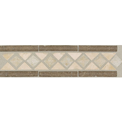 Daltile Incan Stones Border Torreon / Walnut Honed Cicero Border 3 x 12 IC85 312BRA1U