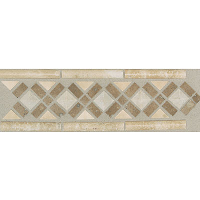 Daltile Incan Stones Border Torreon / Walnut Honed Medieval Border 4 x 13 IC85 413BR1U