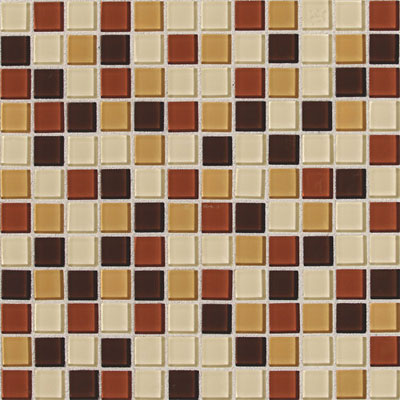 Daltile Isis Glass Mosaic 1 x 1 Blends Amber Blend IS29 11MS1P
